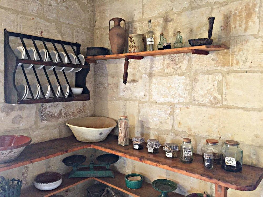 ta' kola windmill gozo kitchen area