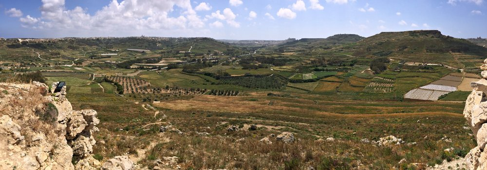 panoramic view from the tas-salvator hill in gozo