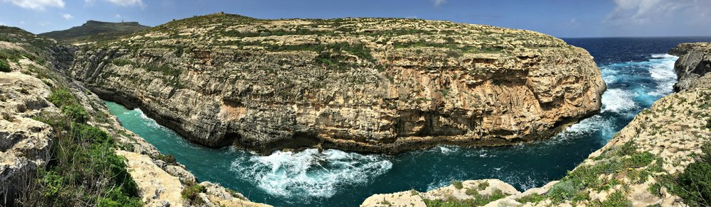 Panorama of view il-ghasri in gozo