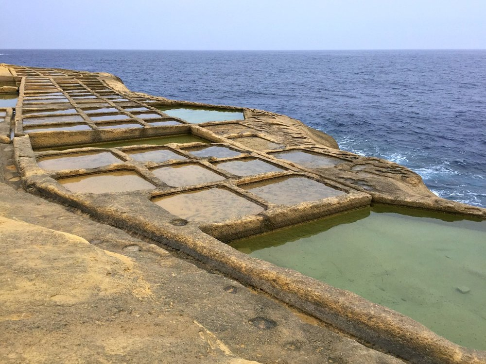 historical salt pans in gozo malta
