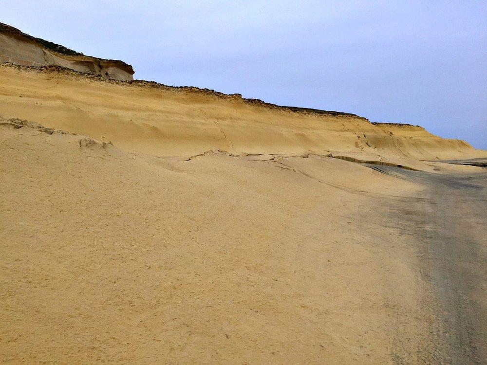coastline in gozo near salt pans