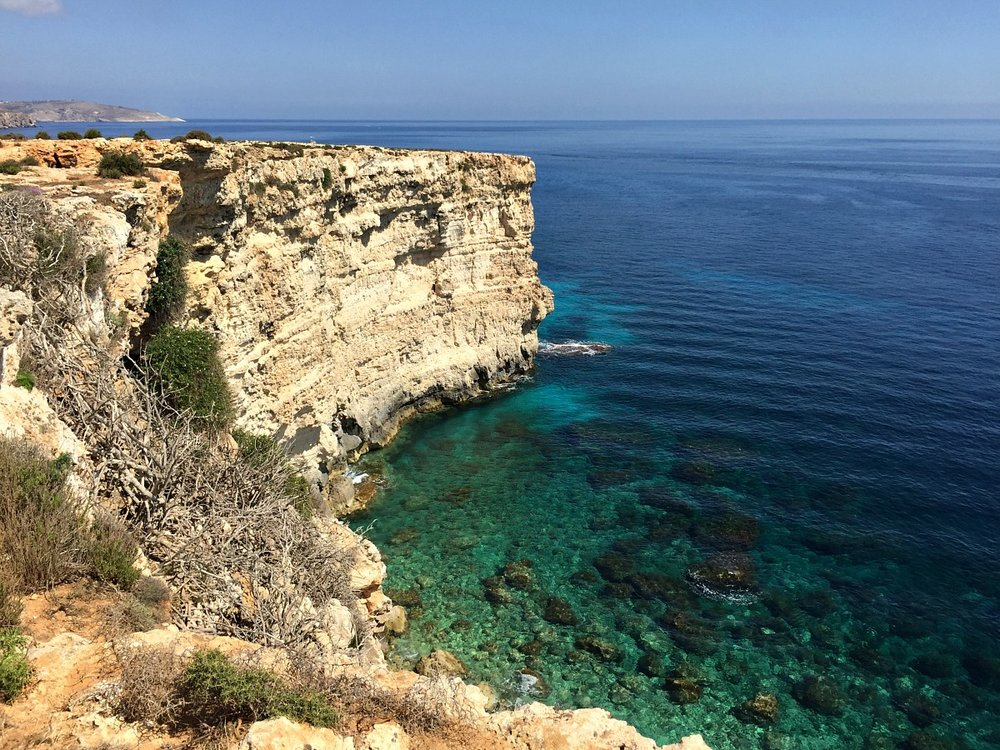 malta cliffs seashore rdum tal-madonna
