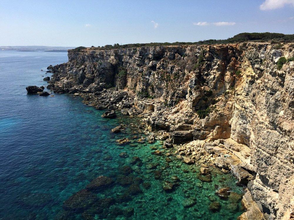 malta mellieha coastline mediterranean view