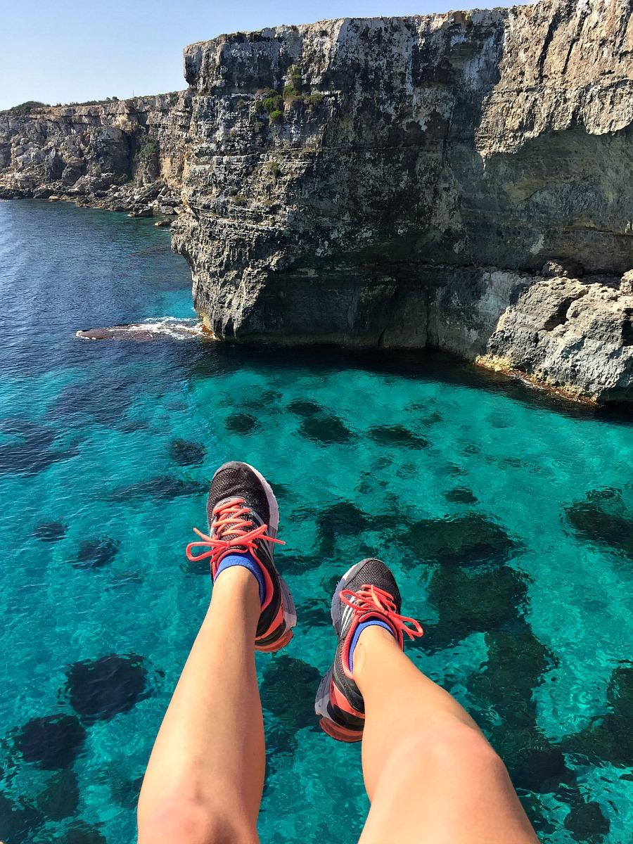 malta mediterranean sea view cliffs