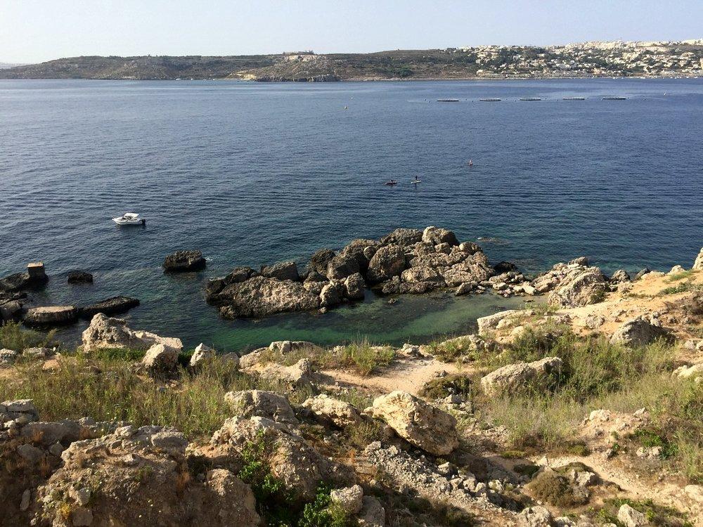 view of slugs bay in malta