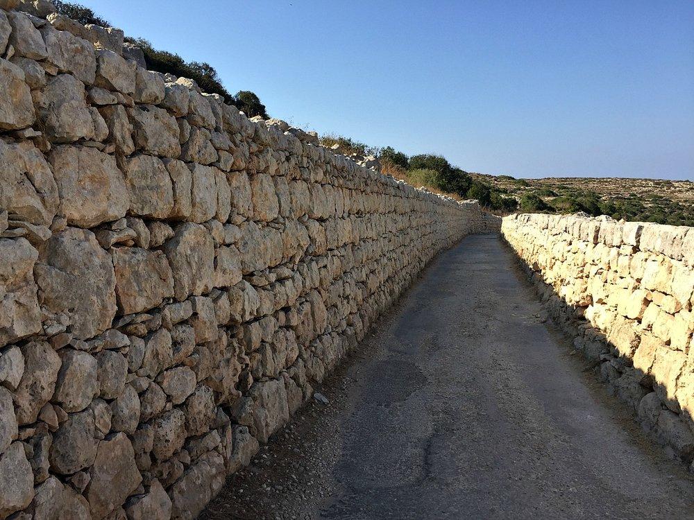 narrow road to selmun beach