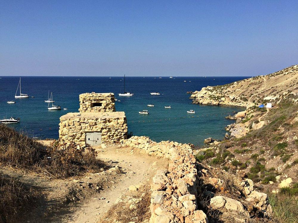 overlooking selmun bay malta