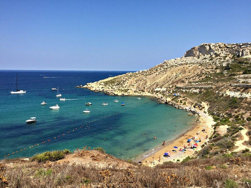 overlooking selmun beach malta