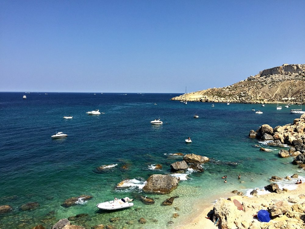 small beach selmun area malta
