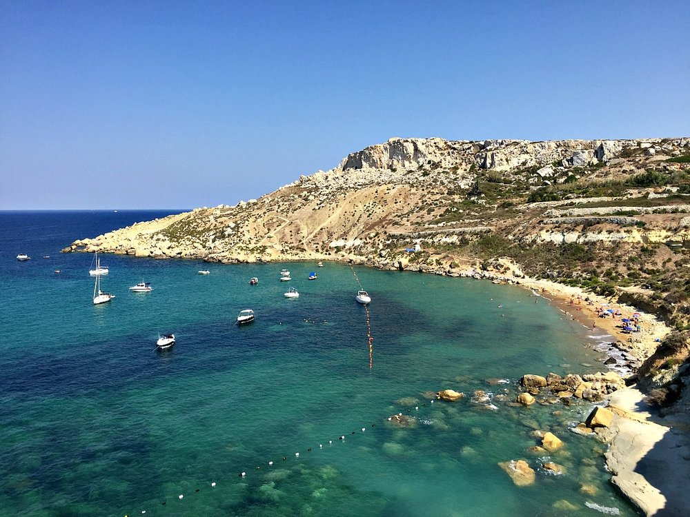 selmun bay overview malta