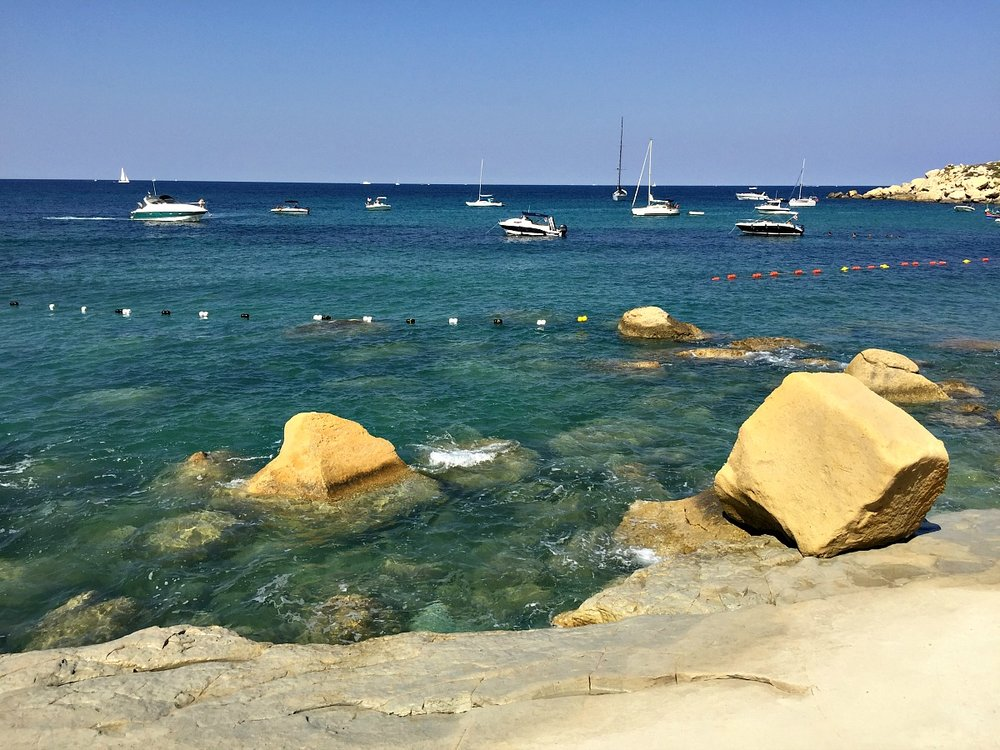 flat limestone beach selmun