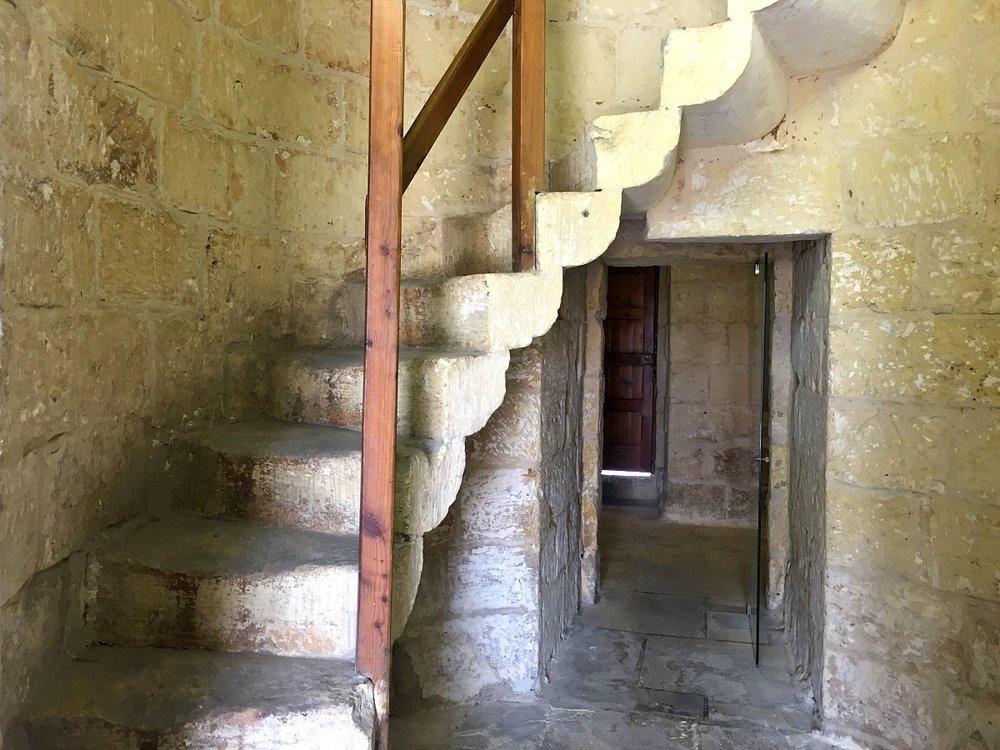 Xarolla Windmill in Zurrieq stairs