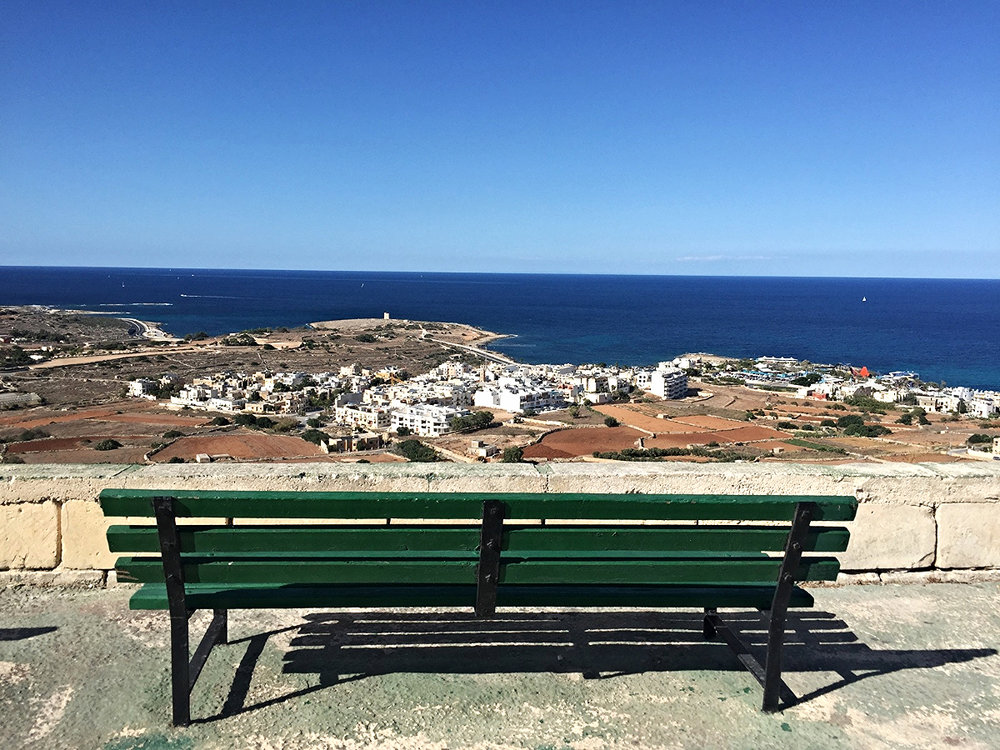 bench at top of the world malta