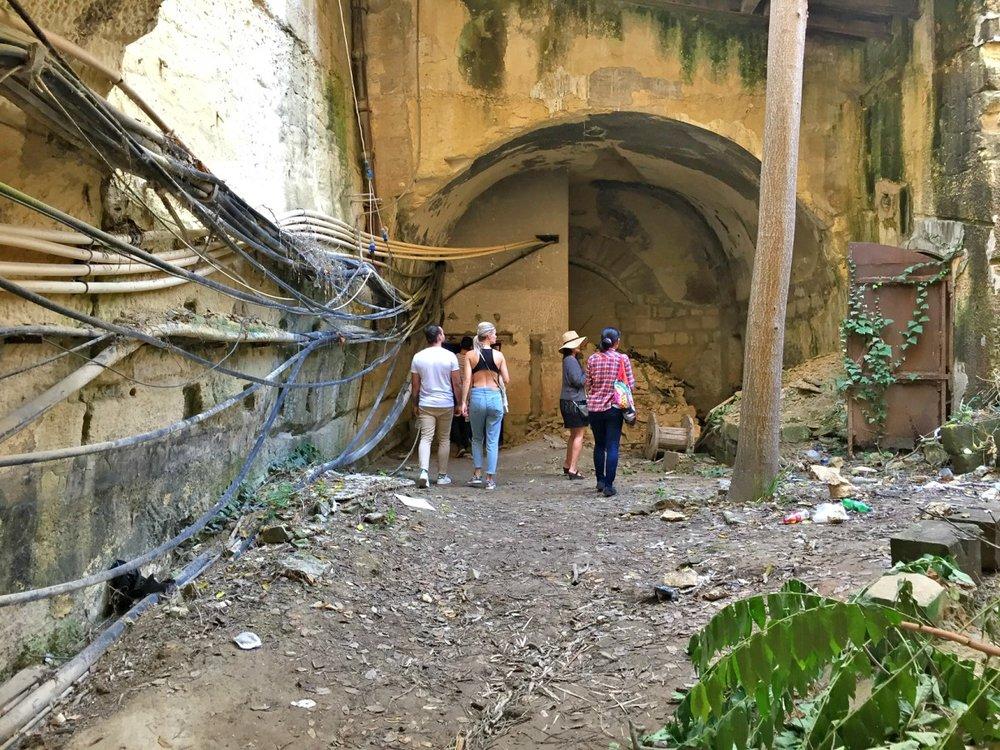 floriana underground train station
