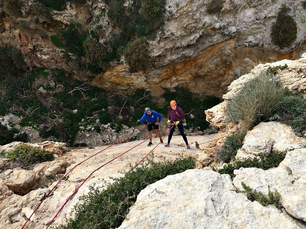 abseiling with an instructor malta