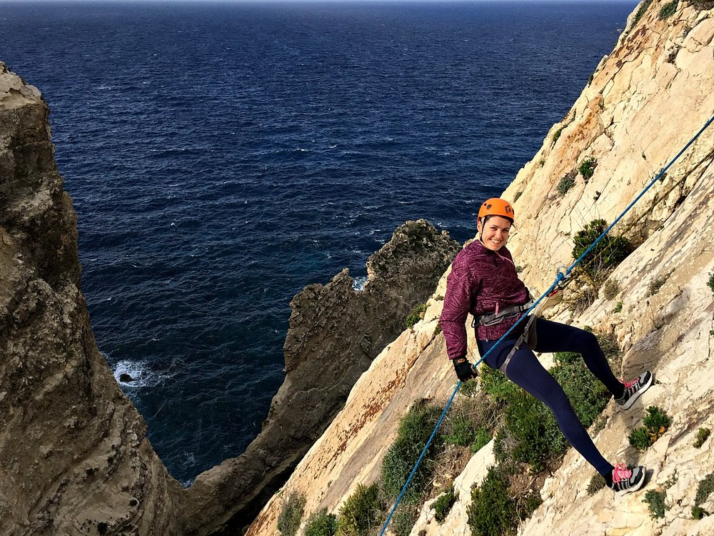 abseiling for beginners malta