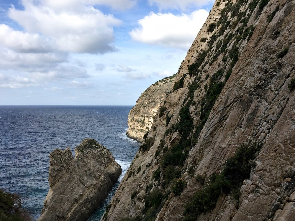 abseiling scenery in malta