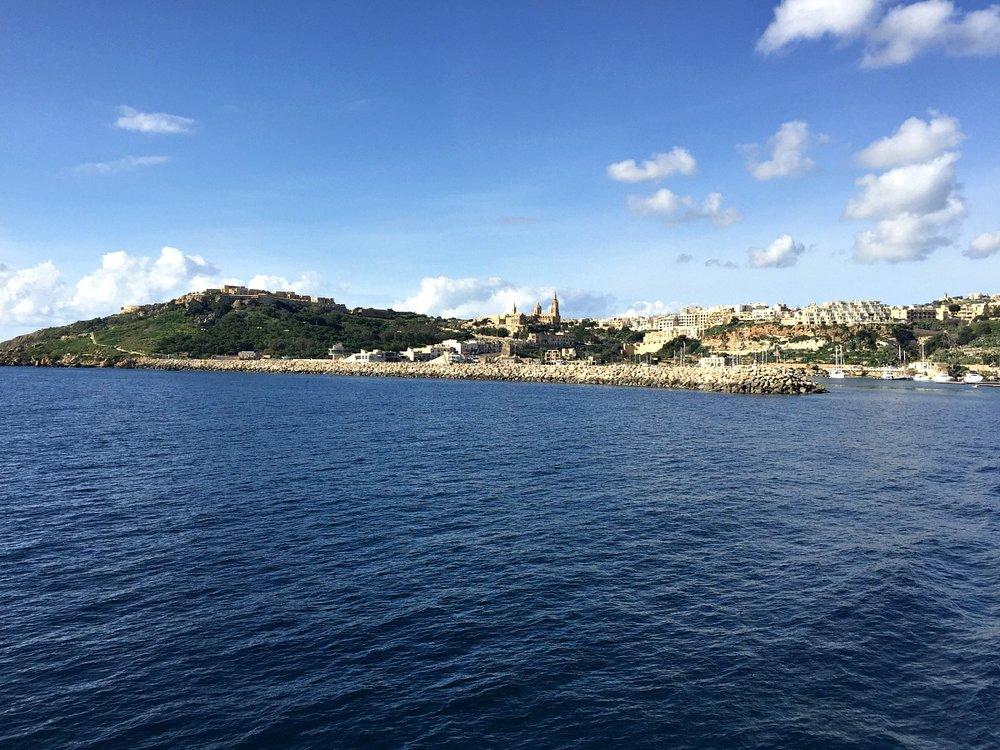 mgarr harbour in gozo malta