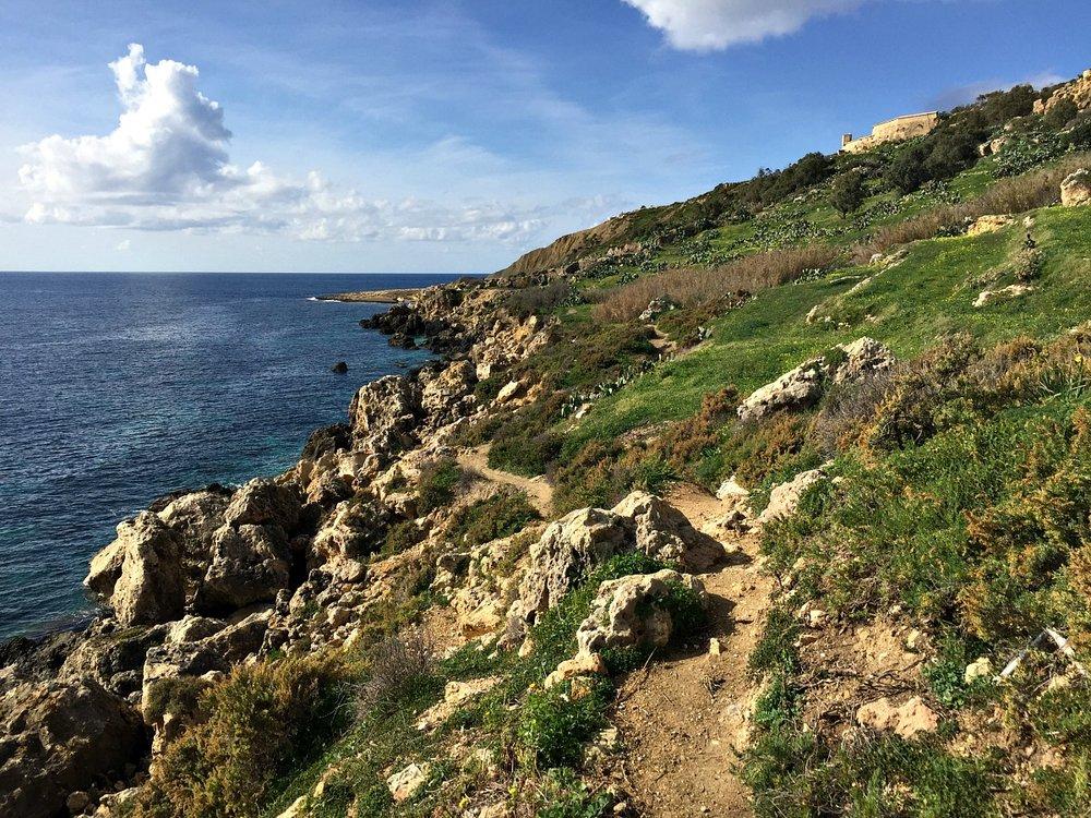 coastal walk in gozo