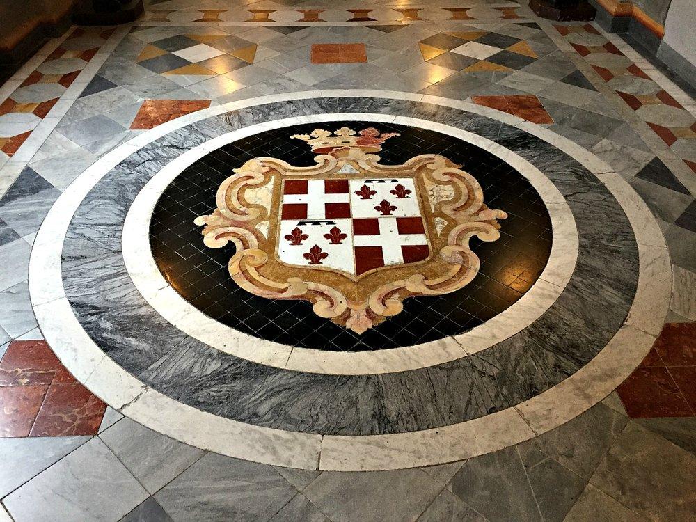 grandmaster's palace in valletta floor