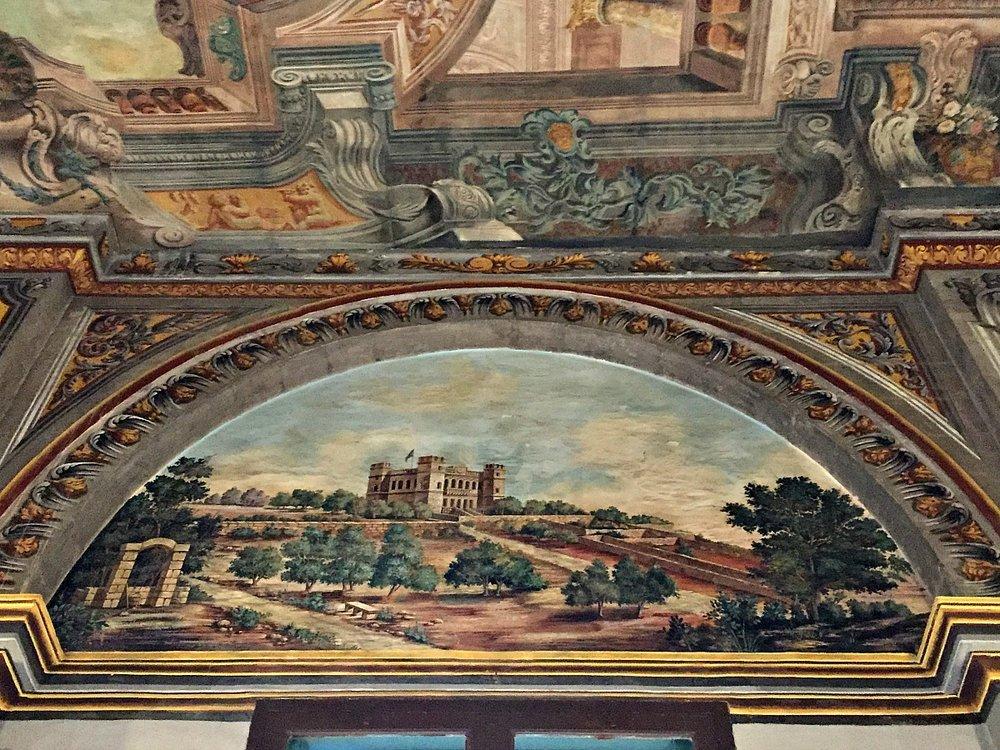 grandmaster's palace in valletta ceiling paintings