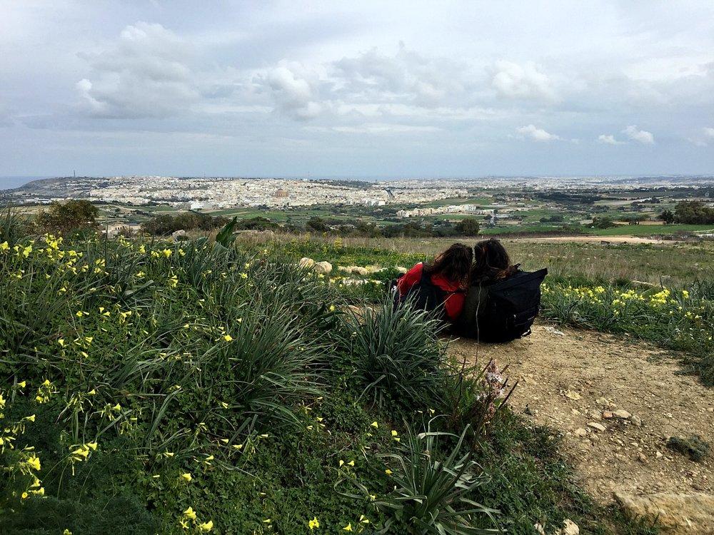 victoria lines trek malta countryside view