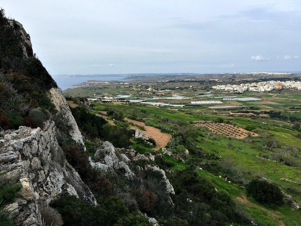 trek along victoria lines malta view