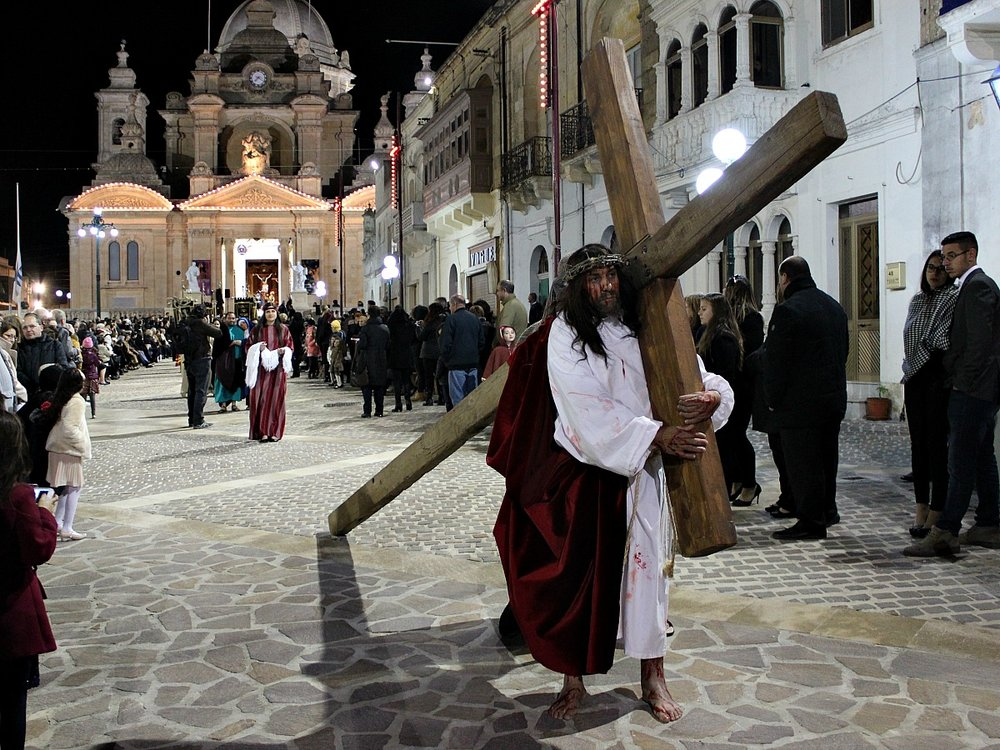 good friday procession in nadur, gozo