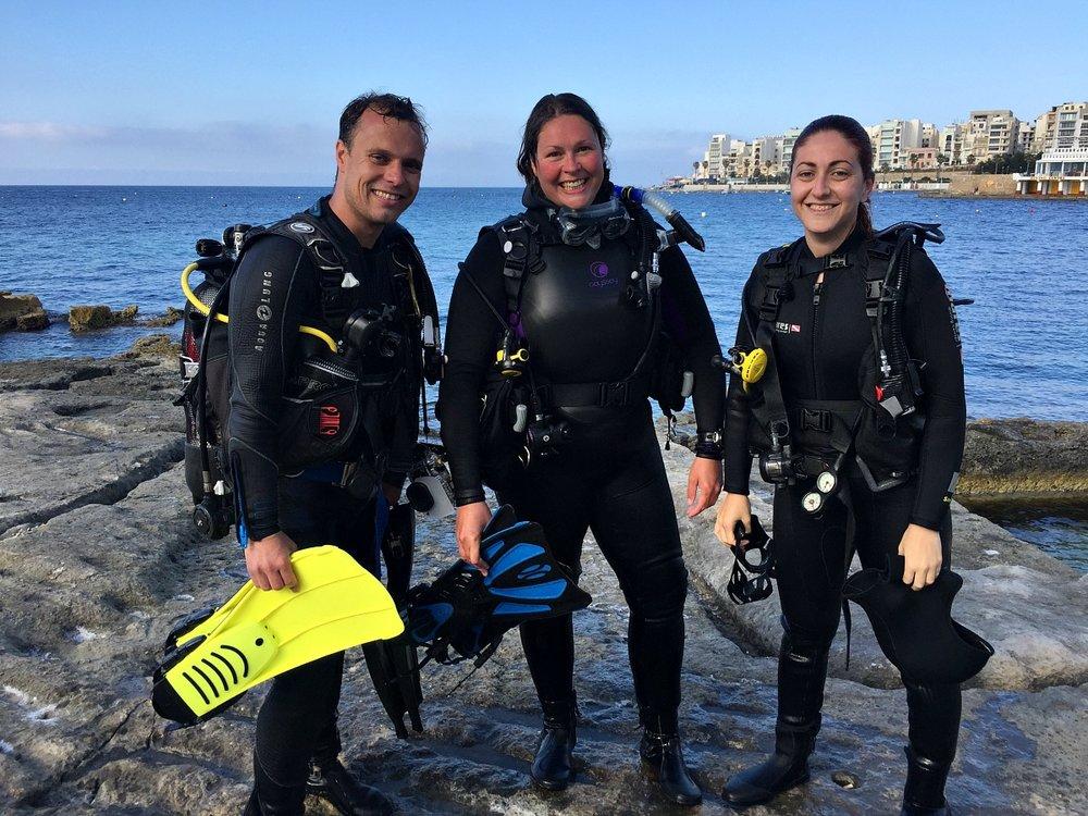 discover scuba dive malta corsair diving