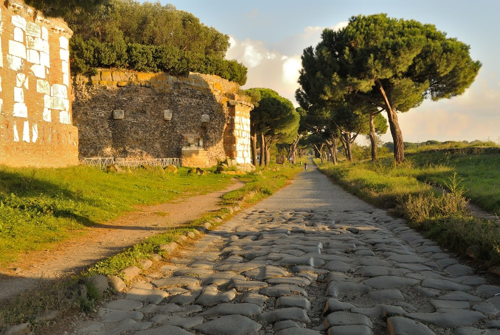 Via Appia (Appian Way) outside of Roma, Italia. The Journey: A New Generation Church of Christ