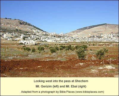 Mt. Gerizim and Mt. Ebal