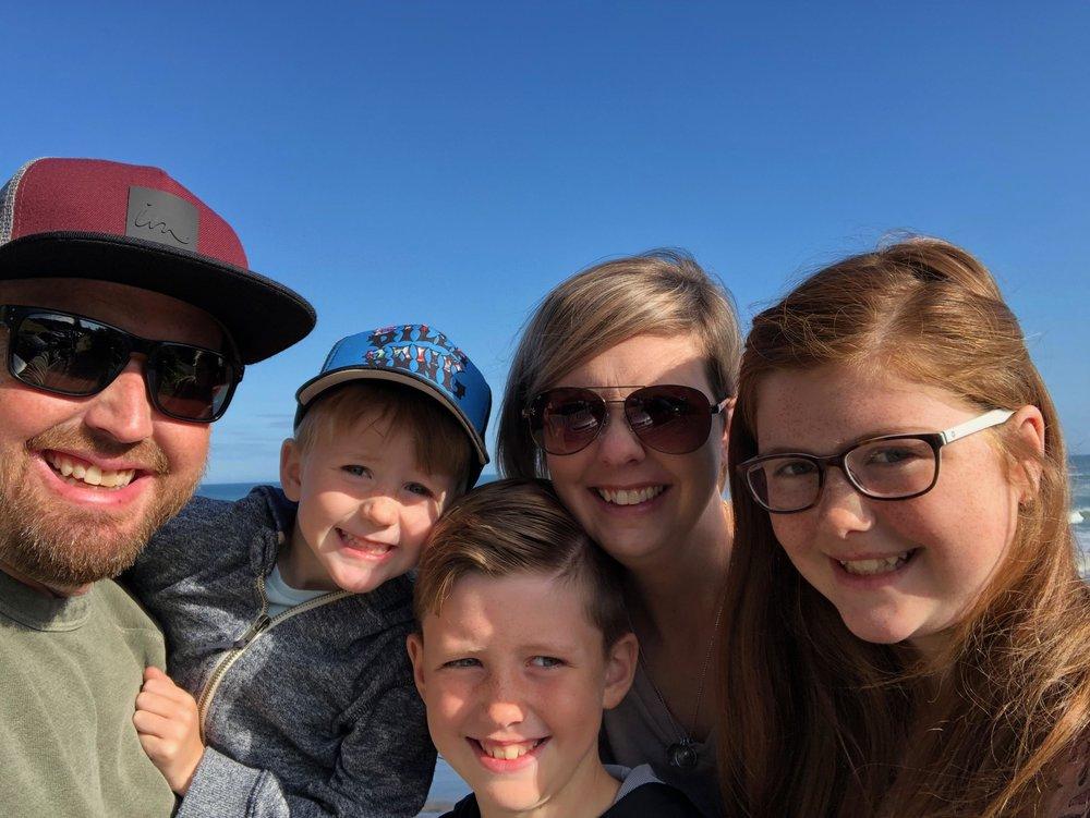 The Cherry Family (from left to right): Justin, Zane, Gavin, Jennifer, Rylee