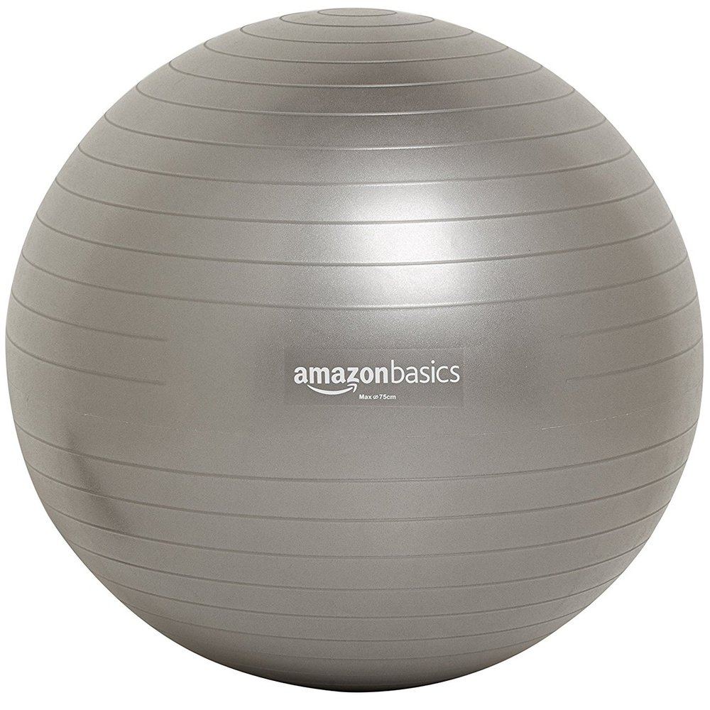Yoga Ball Chair - If you are not standing while you work you better be sitting on a yoga ball. Amazon