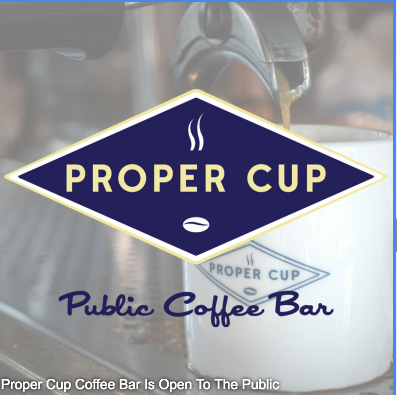 3.9 Star Coffee - Proper Cup coffee is the only good coffee shop in Livingston county and they will give you your first cup of coffee for free. Free Coffee