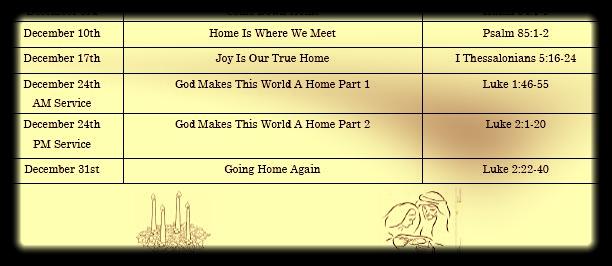 Advent/ Christmas Sermon Series