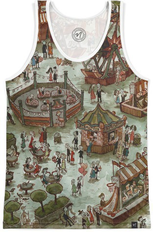 "Or if TANK TOPS are your thing this summer,  perhaps this ""Zombie Fair"" tank top will fit your bill!  Wear this thing to the beach! Wear it to a local fair and really throw all the fair goers for a loop!"