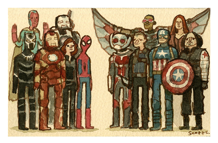 4. Great Showdown: Disagreement Amongst Friends $20 (7.25 x 4.75 inches edition of 100,   first 50 to be released at SDCC  )
