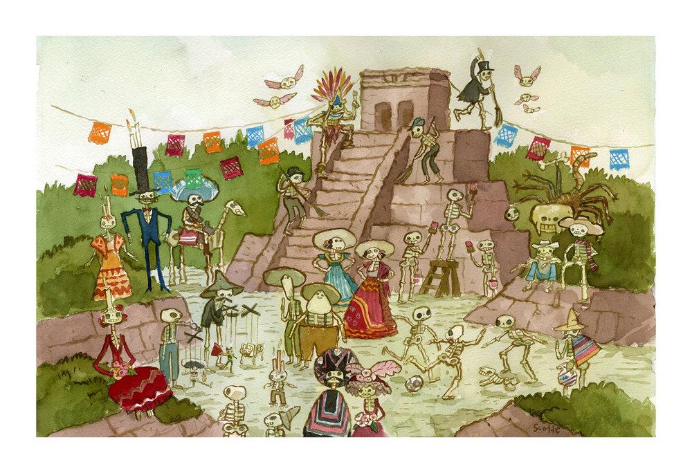 Buenos Momentos en el Templo print (13×19 edition of 100) $45
