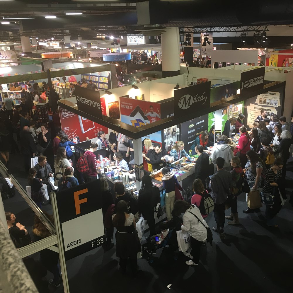 The top floor of    Le Salon du Livre Jeunesse de Montreuil