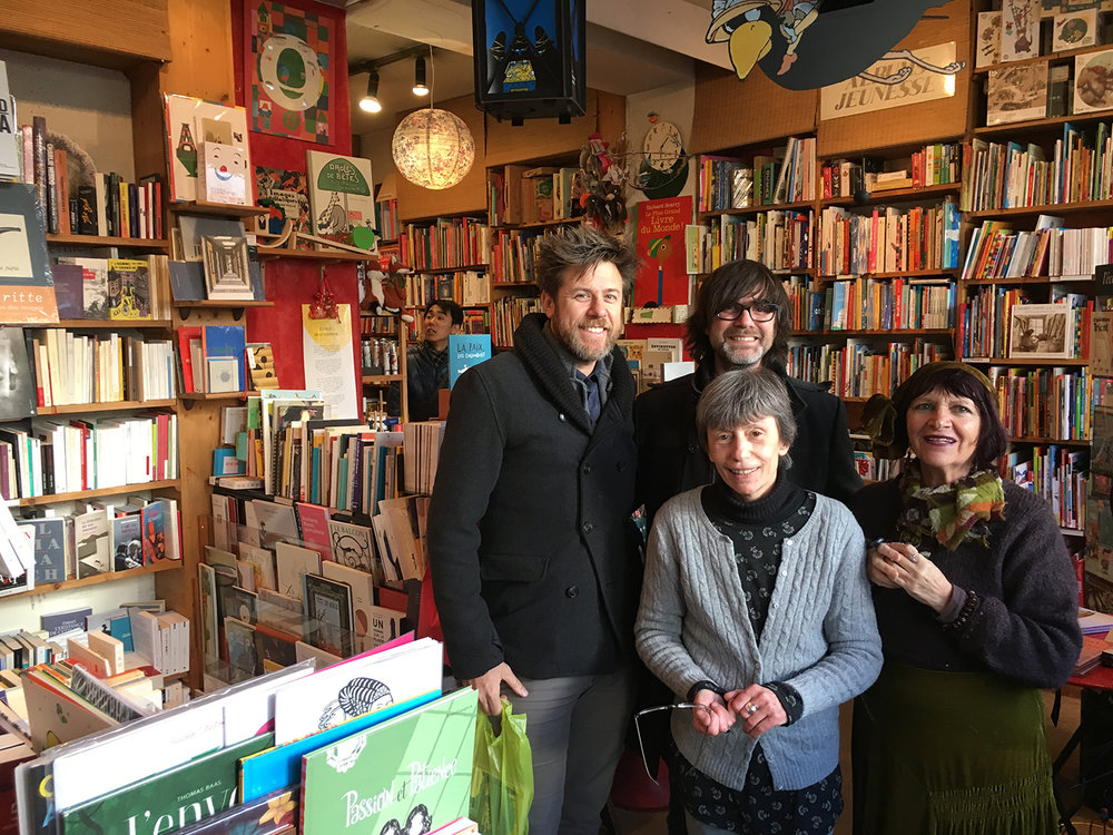 The ladies of  Librairie L'Herbe Rouge !