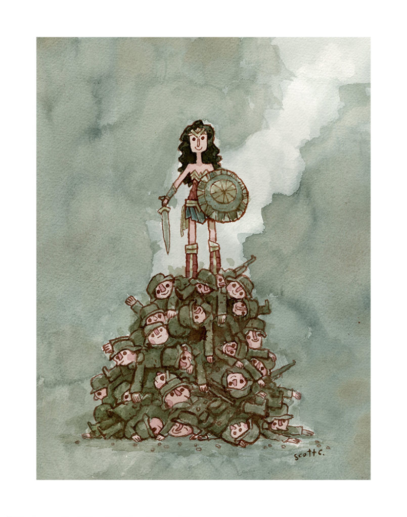 """Princess Upon The Mound"" print – $30 (11×14 inches, edition of 200)"