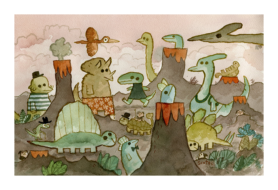 """Dinosaur Day"" print – $45 (13×19, edition of 100)"