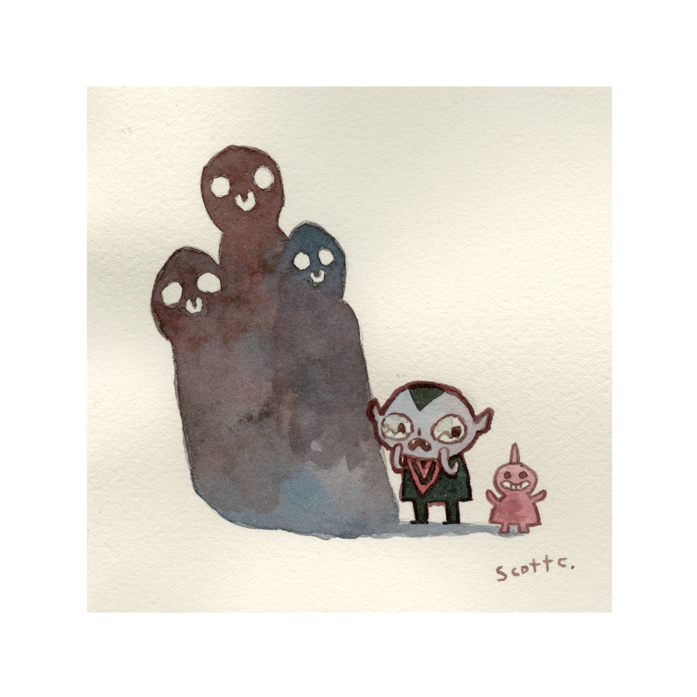 """Little Guy Three Spirits"" print $25 (8x8 inches, edition of 75)"