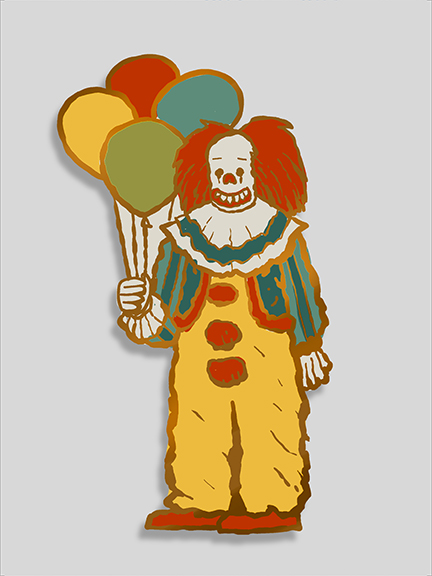 Clown pin   $12