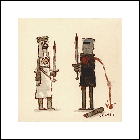 """ The Black Knight "" -  $15 (4.75 x 4.75 inches)"