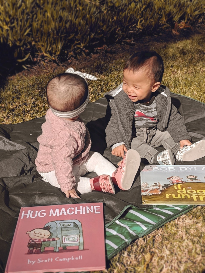 LOOK AT HOW PUMPED THESE BABIES ARE!  They just meet up for picnics to read their books and wear their new shoes.  Your baby should hang with these babies!