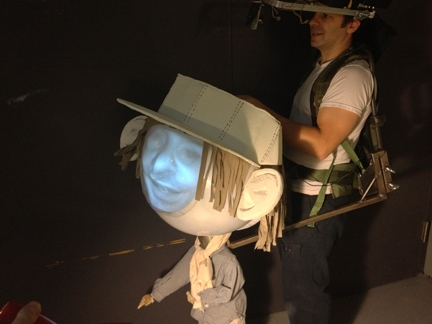 Boy with a bighead was presented at the  World Maker Faire in September  of 2012.