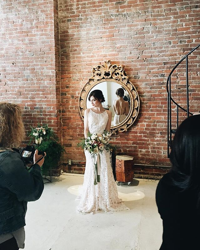 #behindthescenes at our styled shoot today with Gathered Creative!