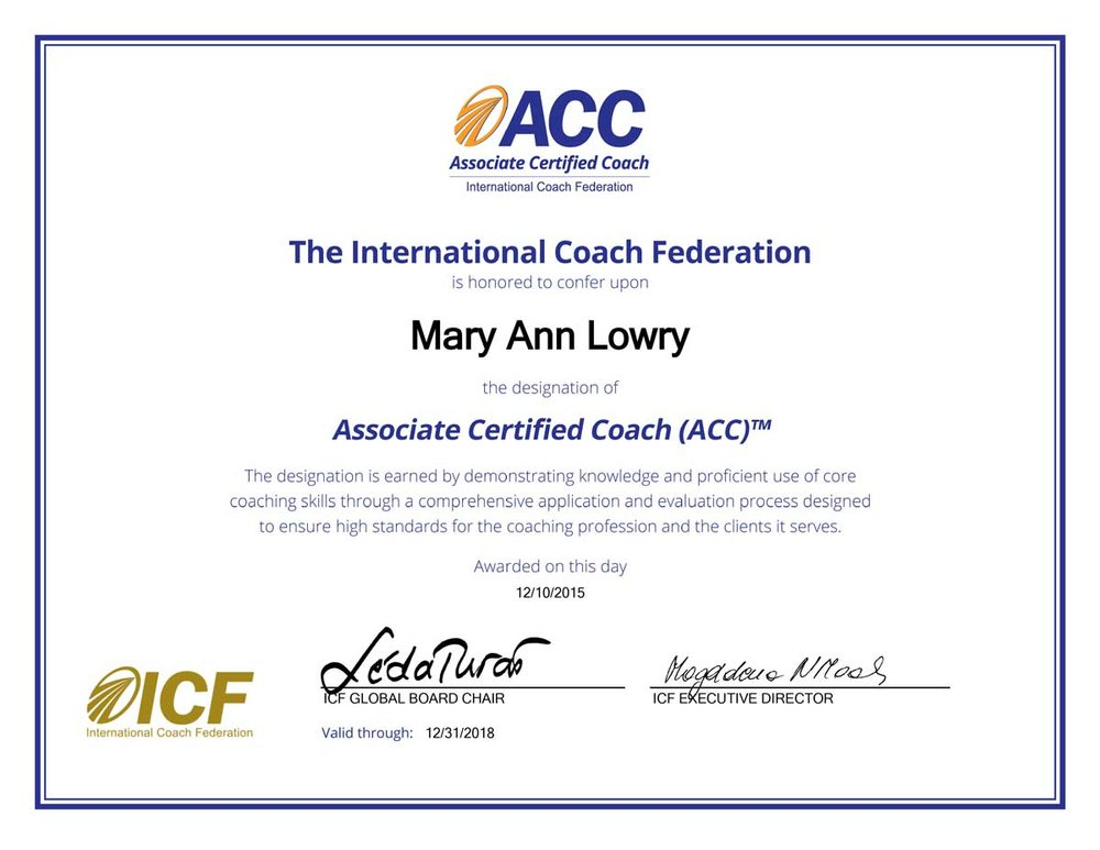 International coach federation ADHD