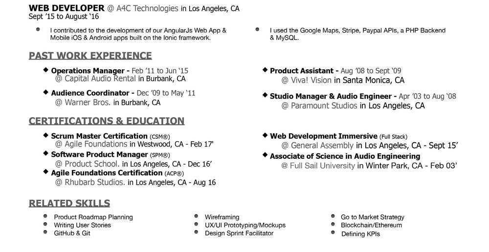 Resume Abel Product Manager
